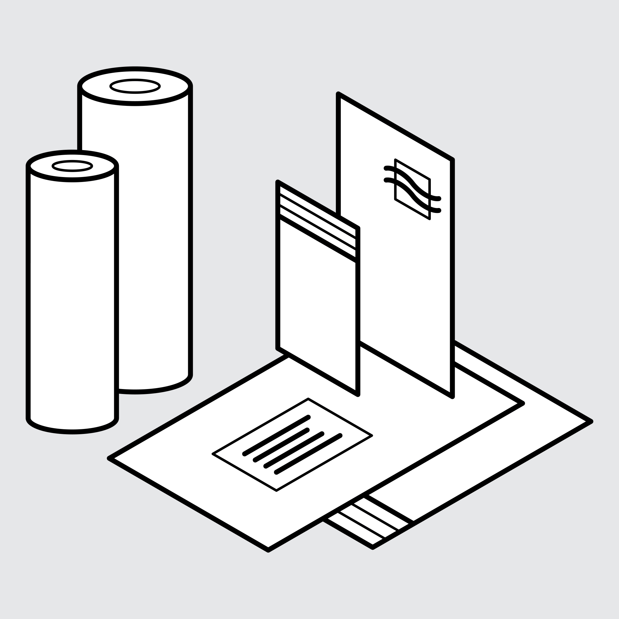 Freight and Packaging – Drawing of Sample Products