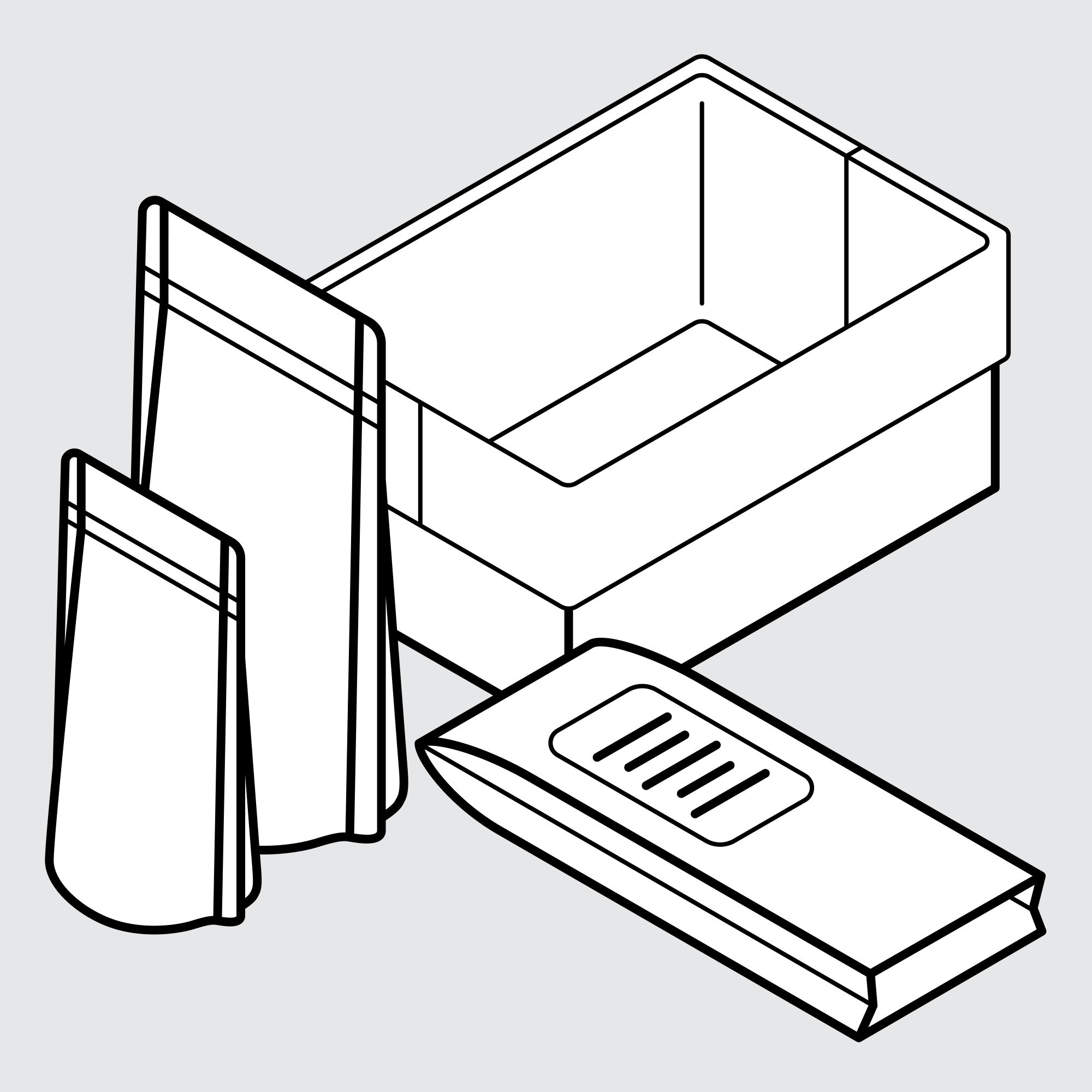 Drawing of Custom Food Packaging
