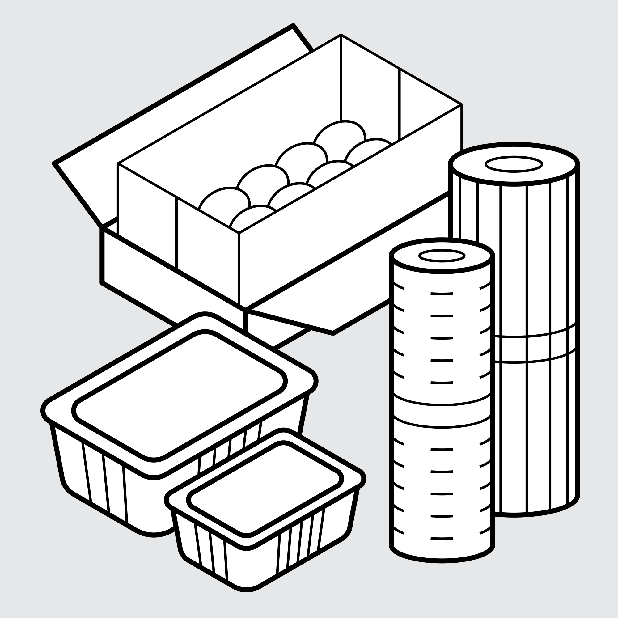 Drawing of Sample Bags for Agriculture and Horticulture Packaging