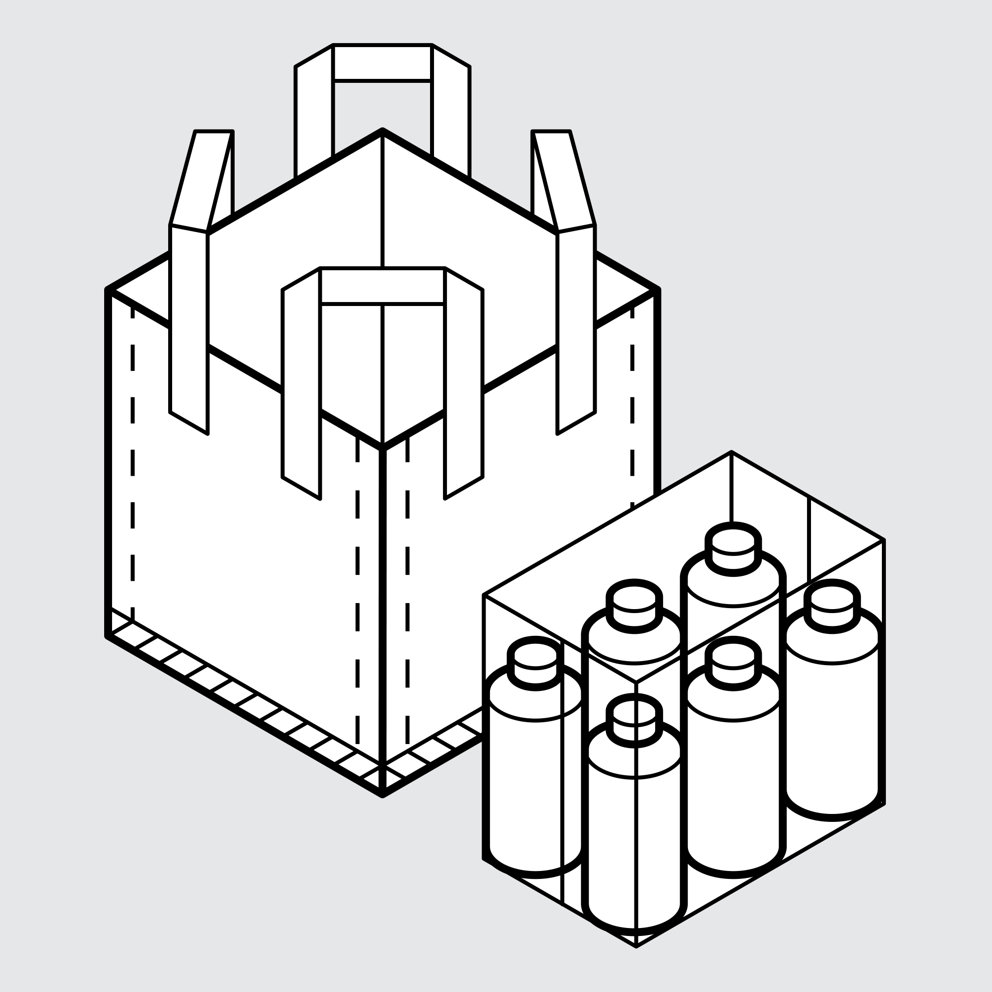 Drawing of Sample Bags for Manufacturing and Industrial Packaging