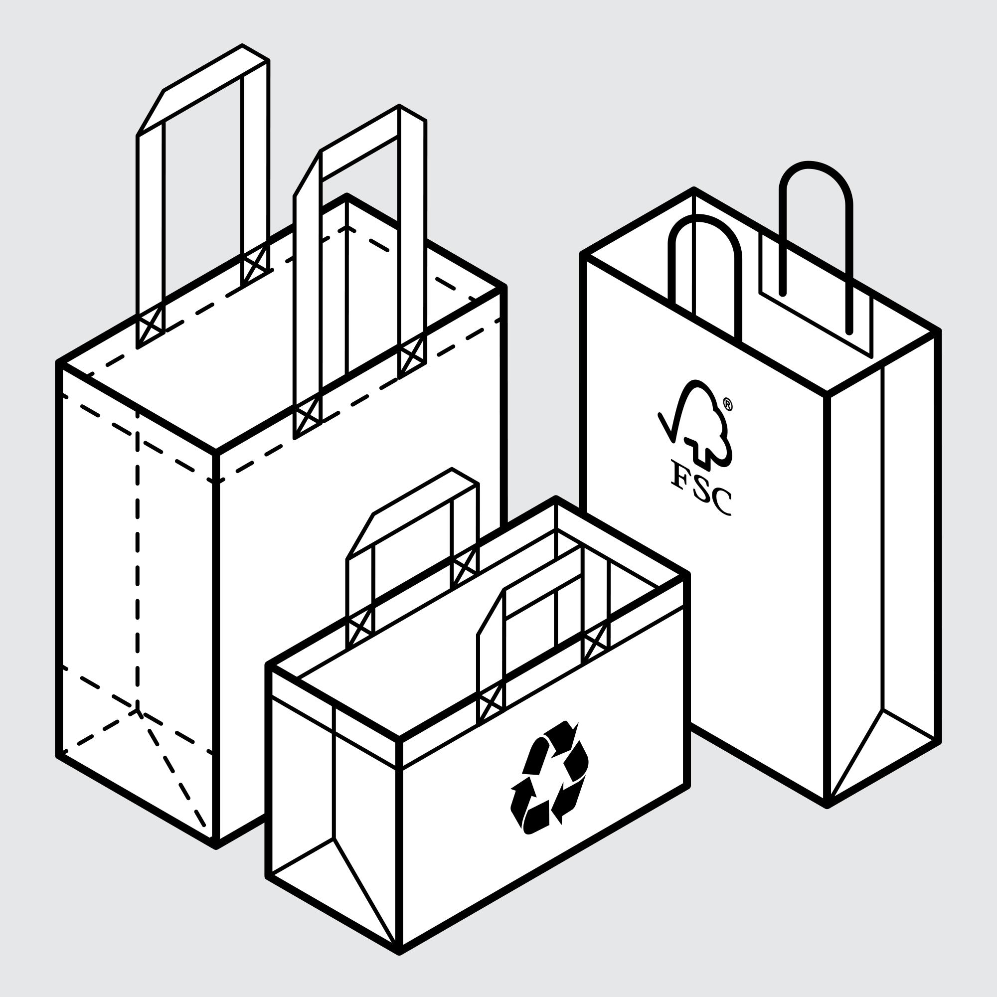 Drawing Retail Packaging Solutions Sample Bags