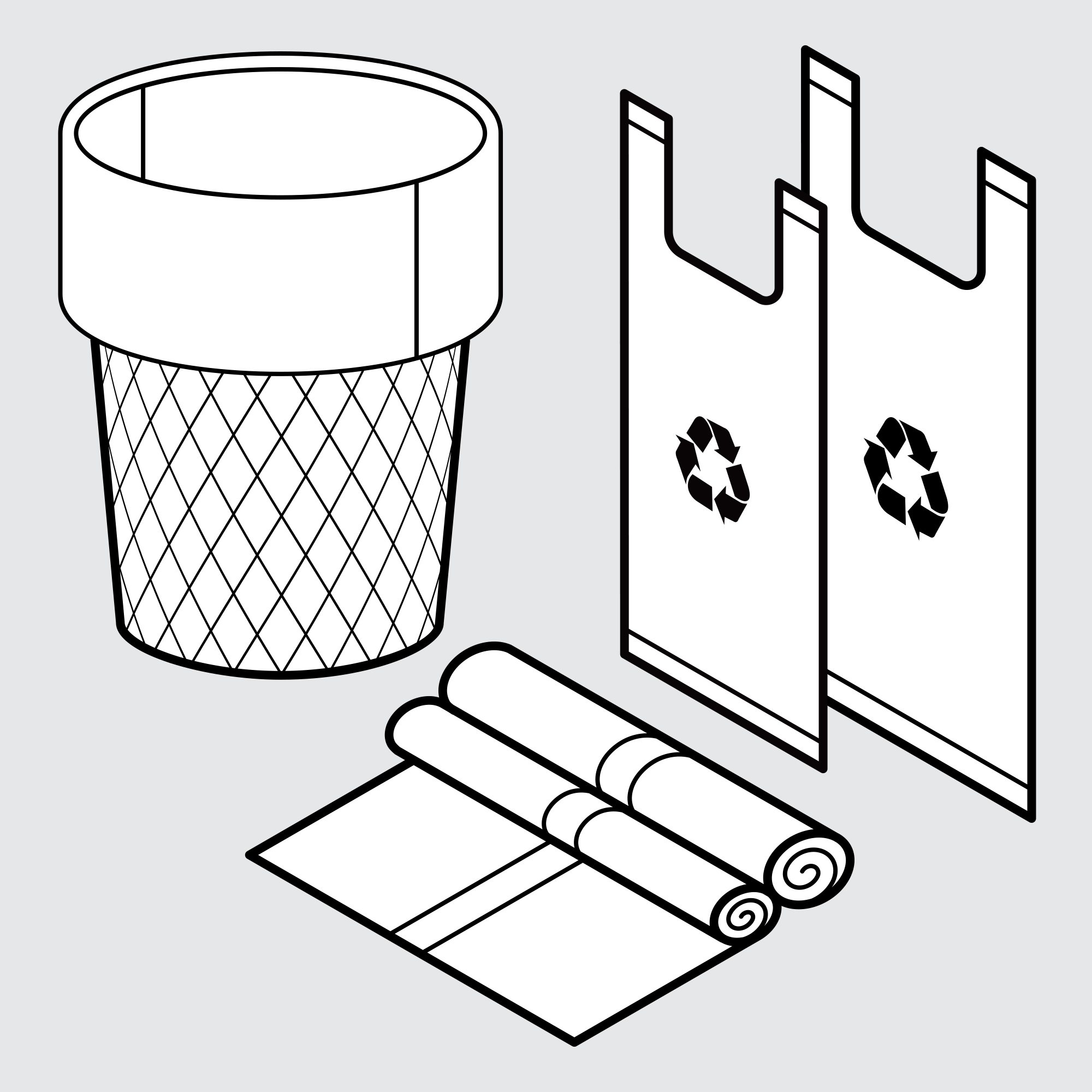 Drawing of Sample Bags for Rubbish and Refuse
