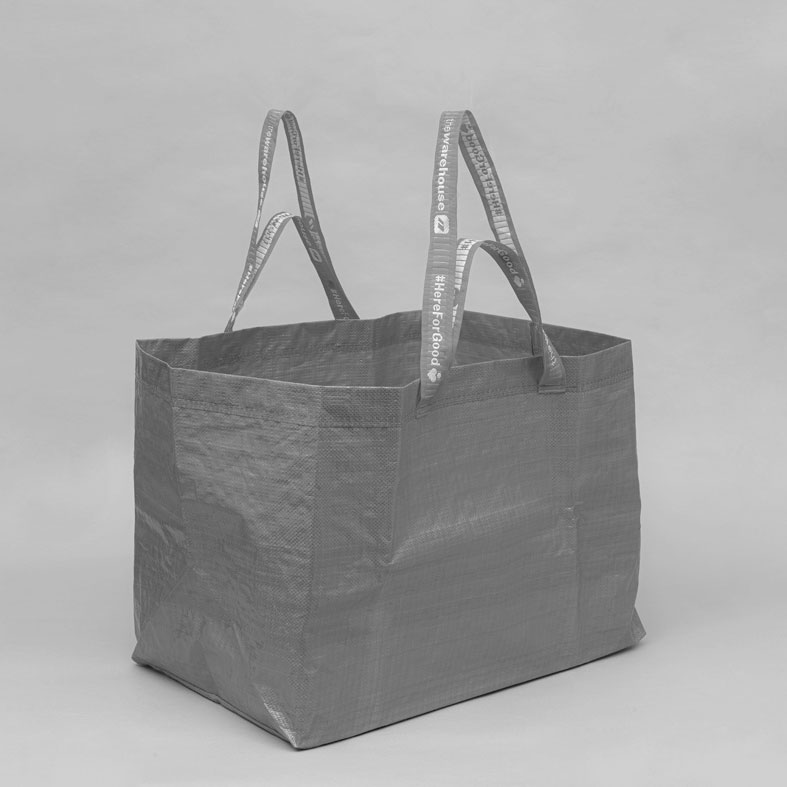 Warehouse Re-Usable Carry Bag – Twin Handles Detail